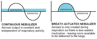 Graph to compare nebulizer outputs