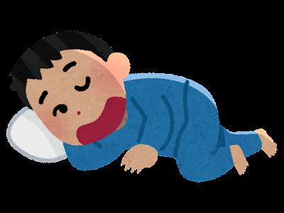 寝たふりのイラスト