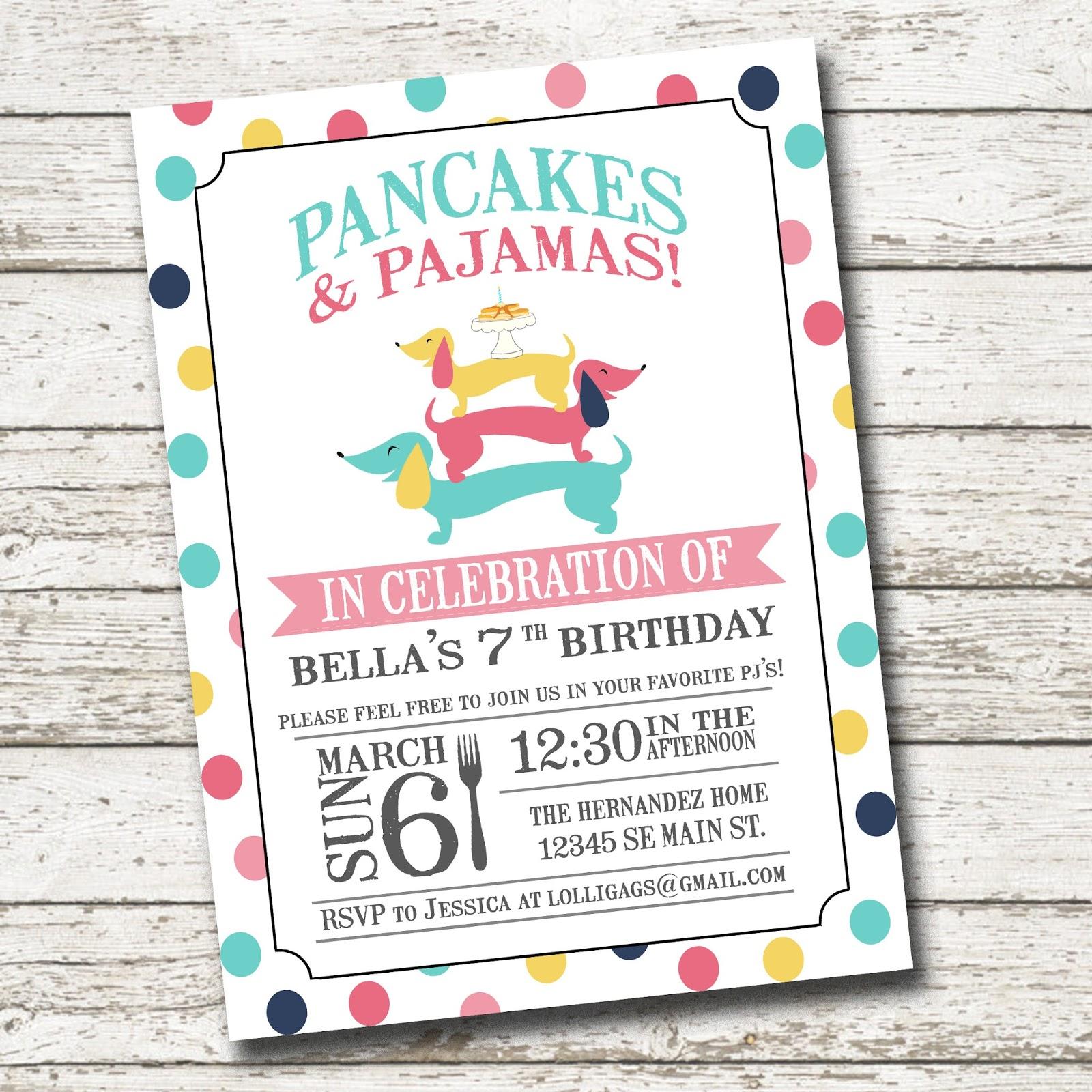 Lolligags: Pancakes & Pajamas Birthday Party