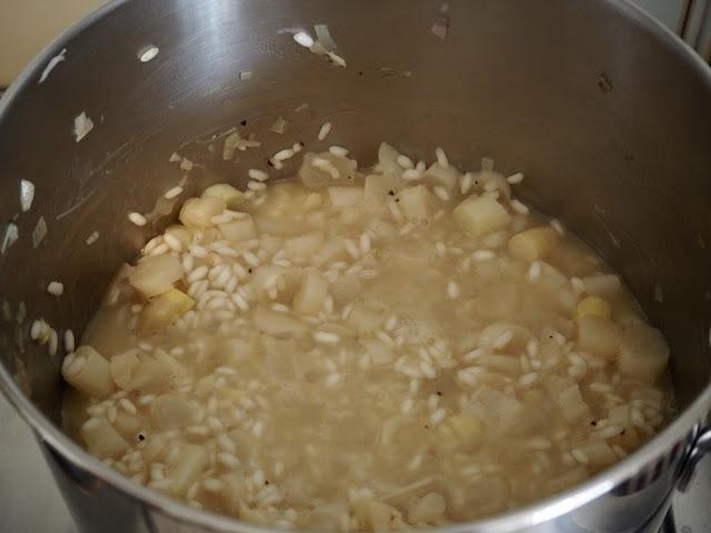 Italské risotto (rizoto) s bílým chřestem