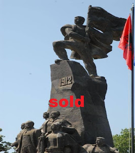The Monument of Independence of Albania, is in hassle