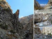 Ущелье с водопадом на 50 километре, Варзоб, Горы Таджикистана