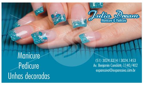 cartao de visita manicure campinas - Cartões de Visita para Manicure e Pedicure