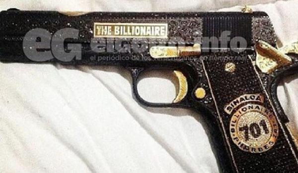 Cuanto vale la pistola de Joaquín 'El Chapo' Guzmán