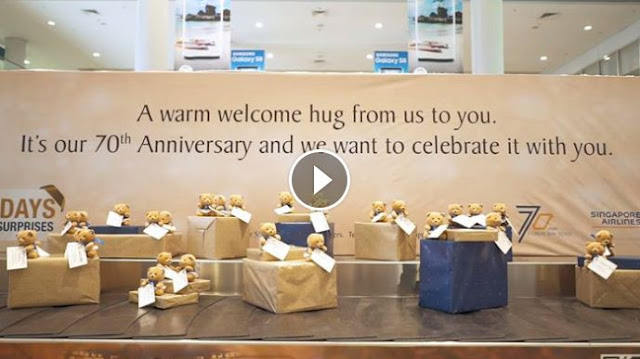 Singapore Airlines 7 Days of Surprises campaign
