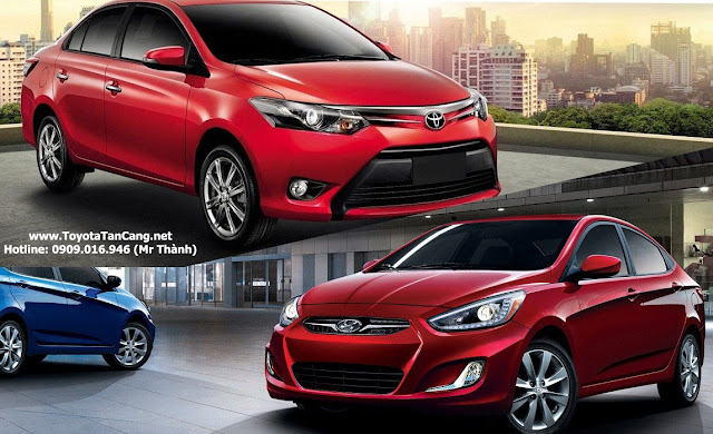 hyundai accent toyota vios 2016%2Bcopy -  - Trong tay 600 triệu nên mua Toyota Vios hay Hyundai Accent ?