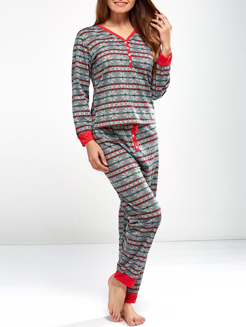 Christmas Snowflake Printed Pajamas