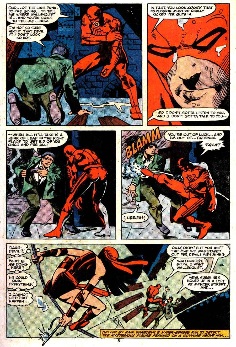 Daredevil v1 #168 elektra marvel comic book page art by Frank Miller