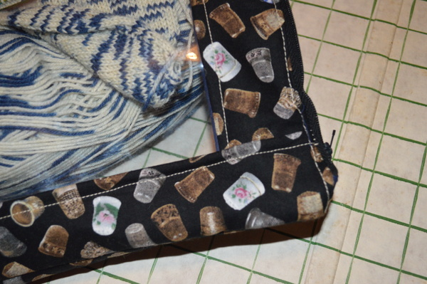Zippered Vinyl Project Bag