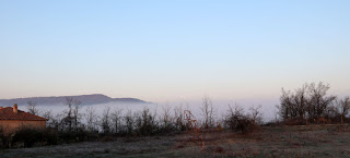 Looking the other direction to normal, mist in the valley