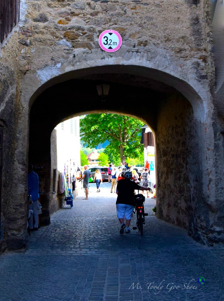 Durnstein, a charming medieval village in Austria, is a popular tourist destination. | Ms. Toody Goo Shoes #Durnstein #Austria #DanubeRiverCruise