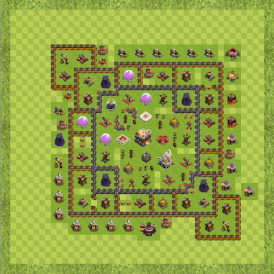 War Base Town Hall Level 11 By orso m (Around TH 11 Layout)