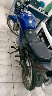 Polícia de Cubati recupera moto com que queixa de roubo que circulava no município