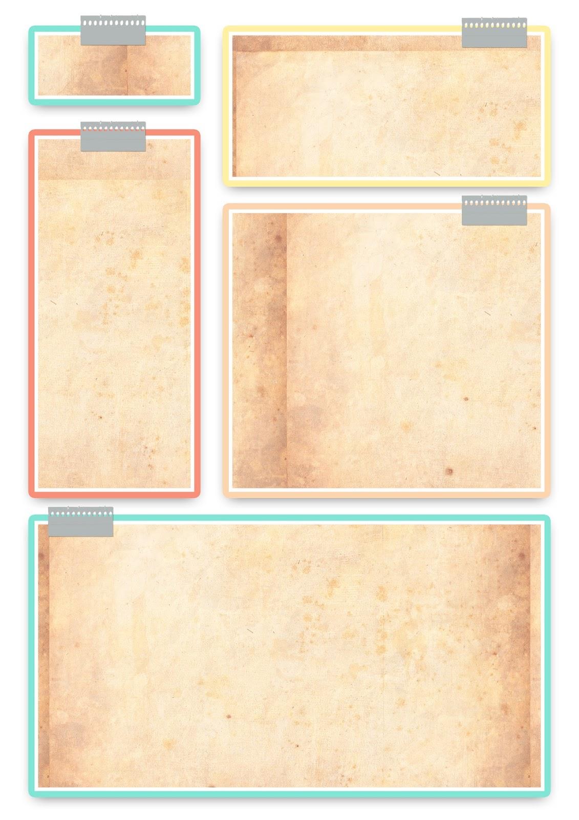 Plantillas para planificador - Imprimibles y PNG gratis para ...