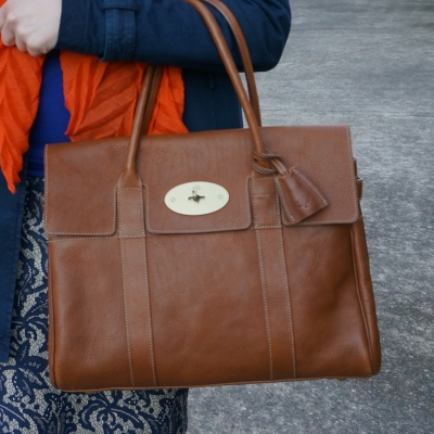 Mulberry heritage bayswater bag in oak NVT leather | away from the blue