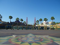 Pre-Transformation Disney California Adventure Entrance Plaza