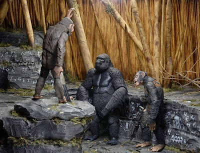 NECA - Dawn of the Planet of the Apes - Series 2 - Koba - Caesar - Luca figures