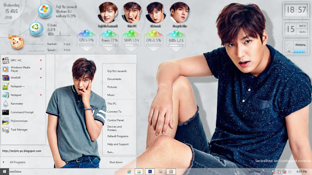 Windows 8/8.1 Theme Lee Min Ho by Enji Riz