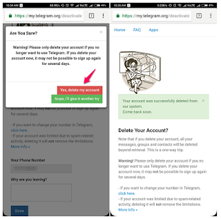 Cara Menghapus Akun Telegram Secara Permanen Pada Android / iPhone