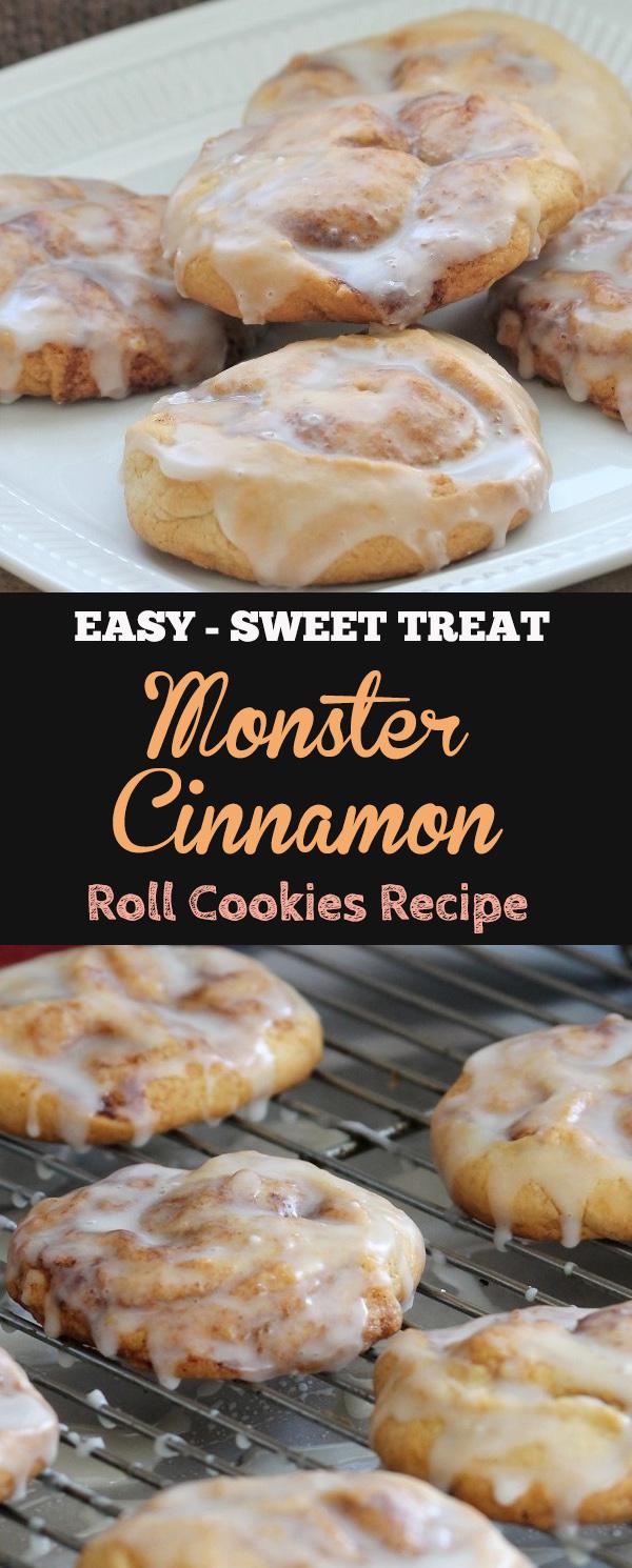 Monster Cinnamon Roll Cookies Recipe | cookie recipes chocolate chip , cookie recipes easy , cookie recipes peanut butter , cookie recipes unique , cookie recipes cookie monster , cookie recipe cinnamon rolls , cookie recipe for kids , Cookie Recipes Soft #cookies #cookiesrecipe #cinnamonroll #cinnamonrollcookies #dessert #dessertrecipe #softcookiesrecipe