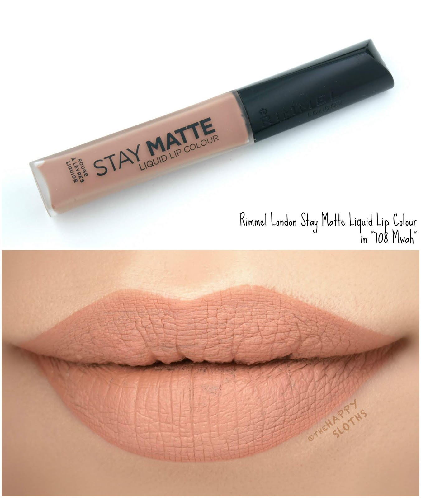 "Rimmel London | Stay Matte Liquid Lip Colour in ""708 Mwah"": Review and Swatches"