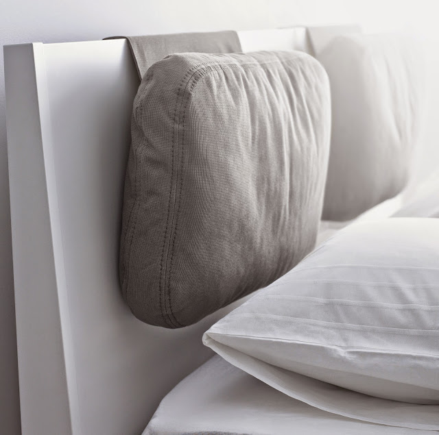 Ikea Upholstered Bed The Cushion Headboard And Art Detail - Ayanahouse