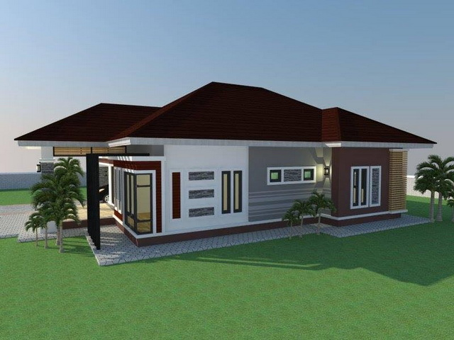5 Beautiful And Modern Bungalow Houses With Free Floor Plans And Blueprints