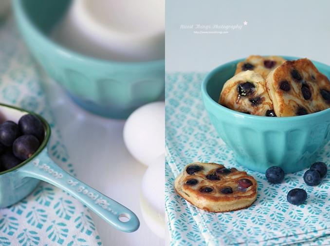 Pfannkuchen Rezept Mini Pancakes mit Blaubeeren