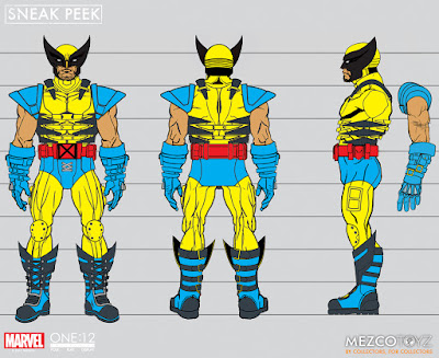 osw.zone Mezco Toyz Fall 2017 Exclusive: Wolverine Actionfigur in the iconic yellow and blue costume