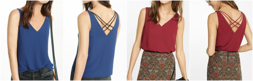 Express Strappy Back V-Neck Tank $13 (reg $40)