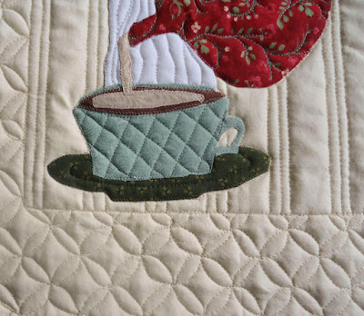 Details of Tea Time wall hanging