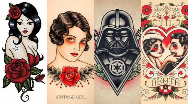 Old School tatuagens
