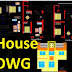 House dwg autocad for drawing