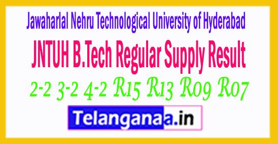 JNTUH B.Tech 2-2 3-2 4-2 R15 R13 R09 R07 Regular Supply Result 2017