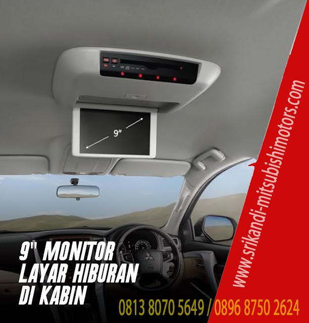 """fitur entertainment dengan roof monitor 9"""""""
