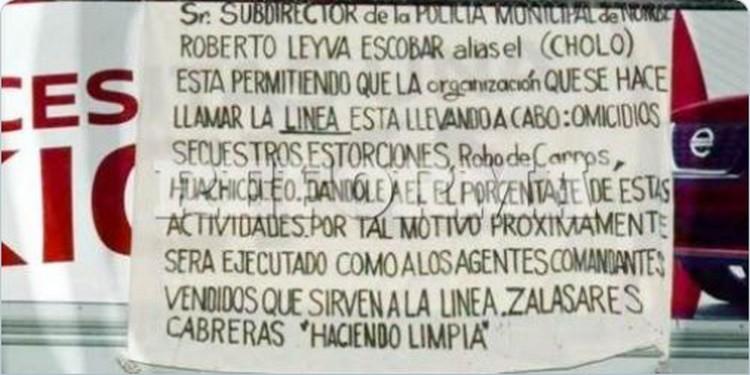 """Sicarios amenazan con ejecutar a mando relacionado con """"La Linea"""" en Chihuahua."""