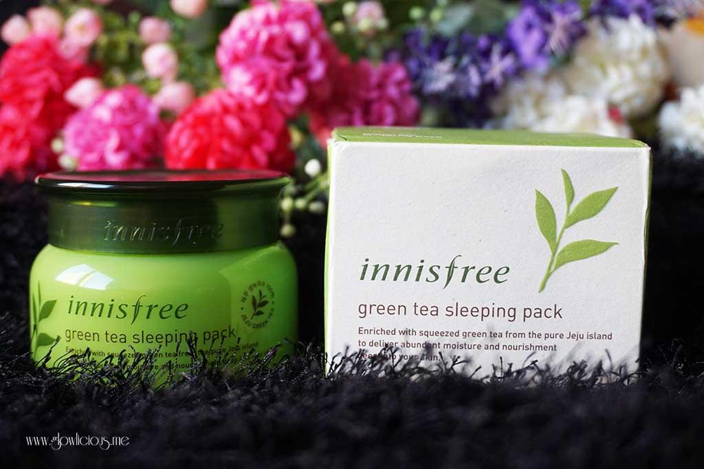 Review Innisfree Green Tea Sleeping Pack