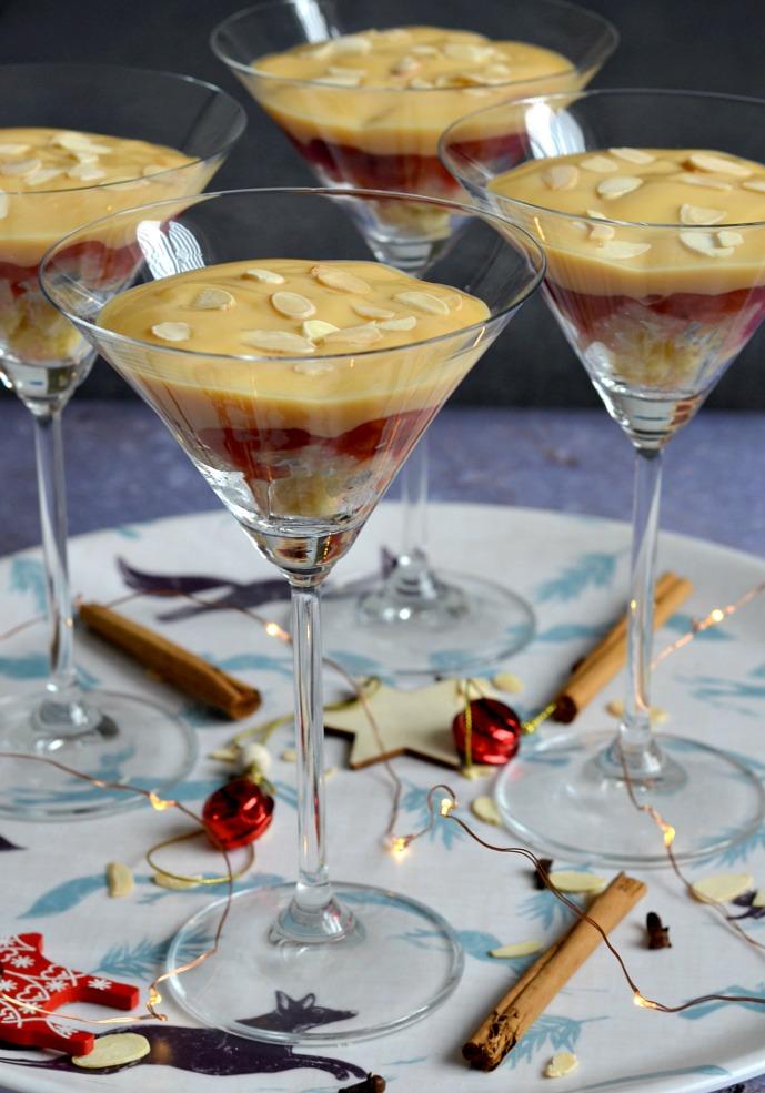 Cocktail Glass Christmas Trifles with Splenda®