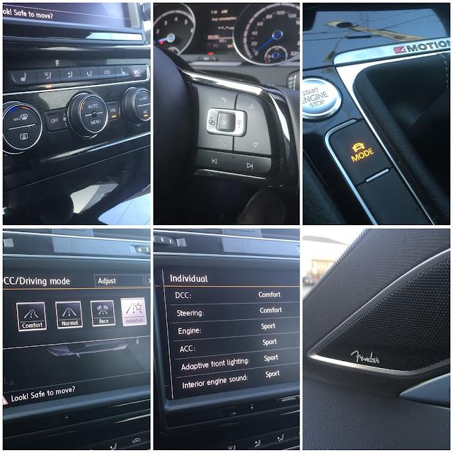 2016 Volkswagen Golf R interior collage