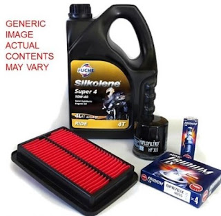 Honda CG 125 service kit - full serving pack including oils filters and spark plugs