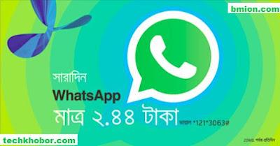 গ্রামীণফোন-Whatsapp-হোয়াটসএপ-মেসেজিং-প্যাক-২.৪৪টাকায়