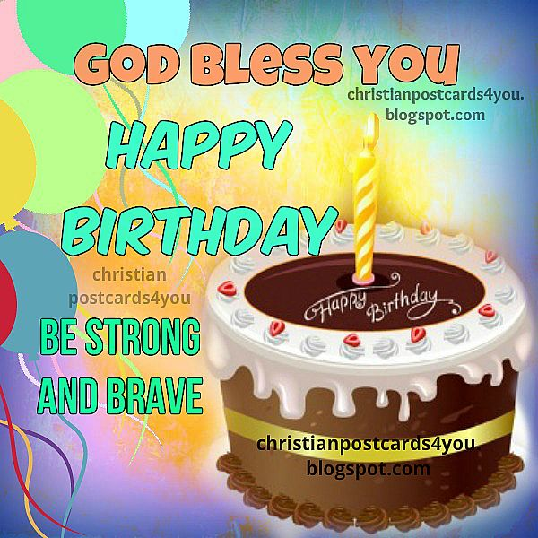 Free Birthday card with chrsitian quotes, nice christian image, blessings