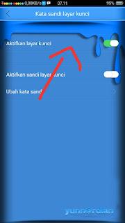 Cara menonaktifkan kunci Layar pola Oppo A71