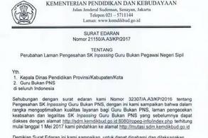 http://mutasi.sdm.kemdikbud.go.id Alamat Baru Cek SK Inpassing Guru Non PNS