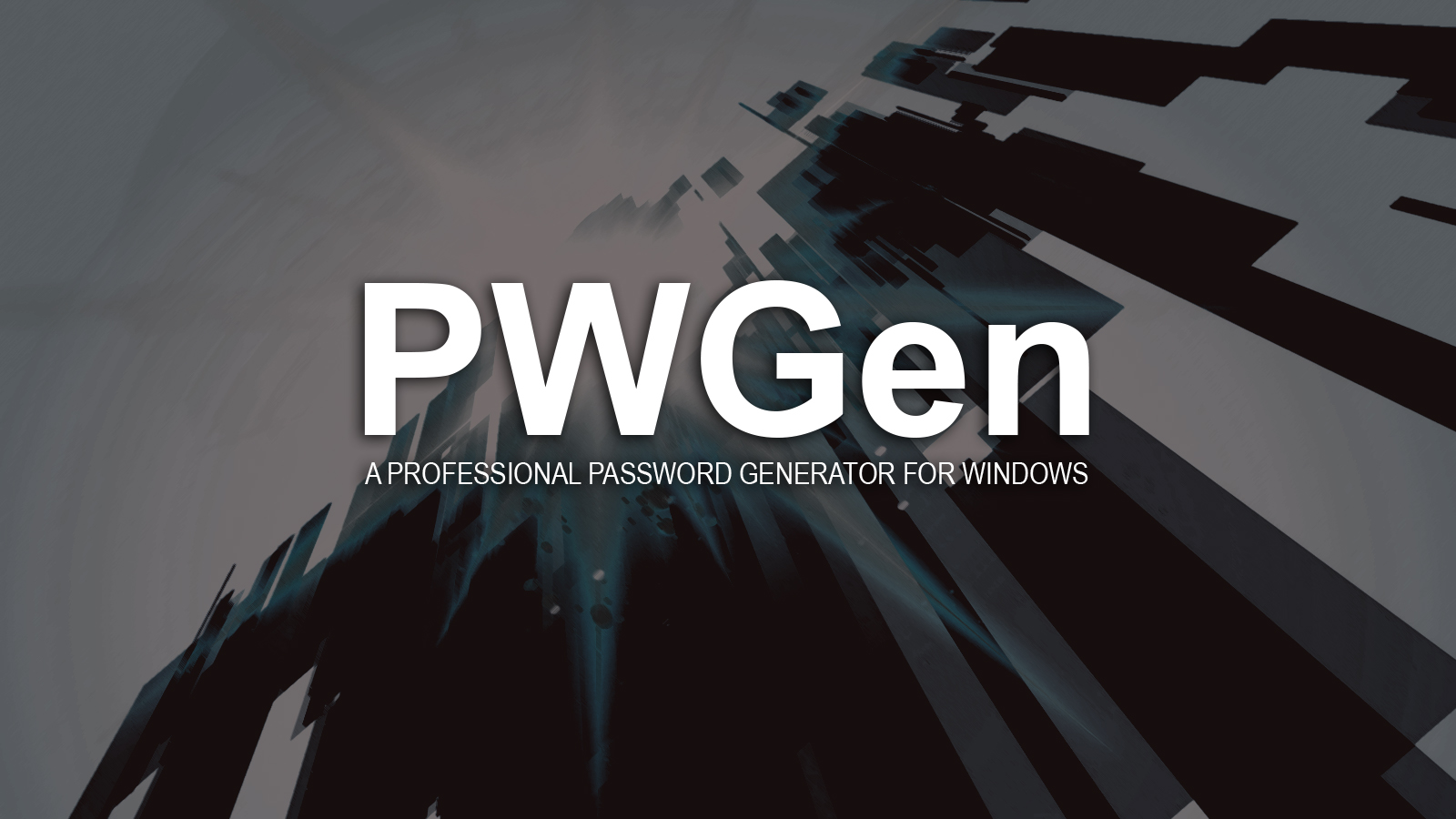 PWGen - A Professional Password Generator for Windows