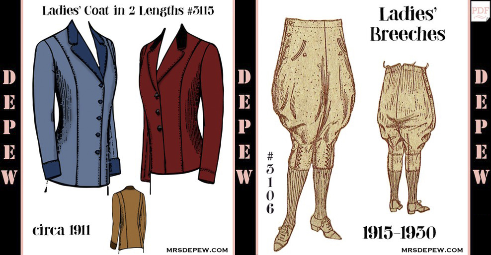 Mrs. Depew vintage style sewing patterns