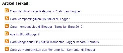 Cara Membuat/memasang Artikel Terkait di blogger
