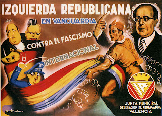 Izquierda Republicana En Vanguardia Contra El Fascismo Internacional (Left Republican in vanguard against international fascism) by Petit Guillén Carteles  de la Republica y de la Guerra Civil #180