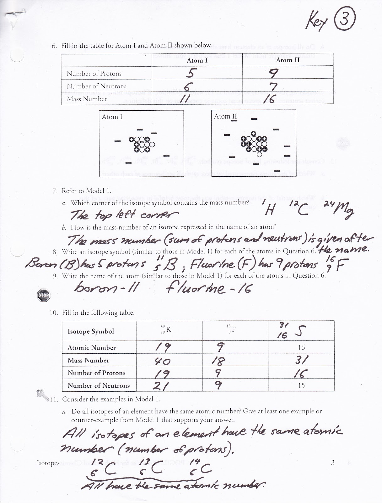 Pin Isotopes Worksheet
