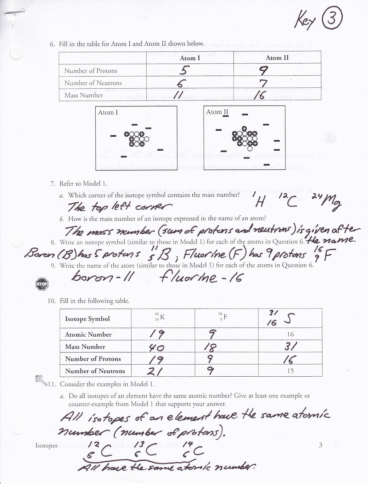 Pin Isotopes Worksheet